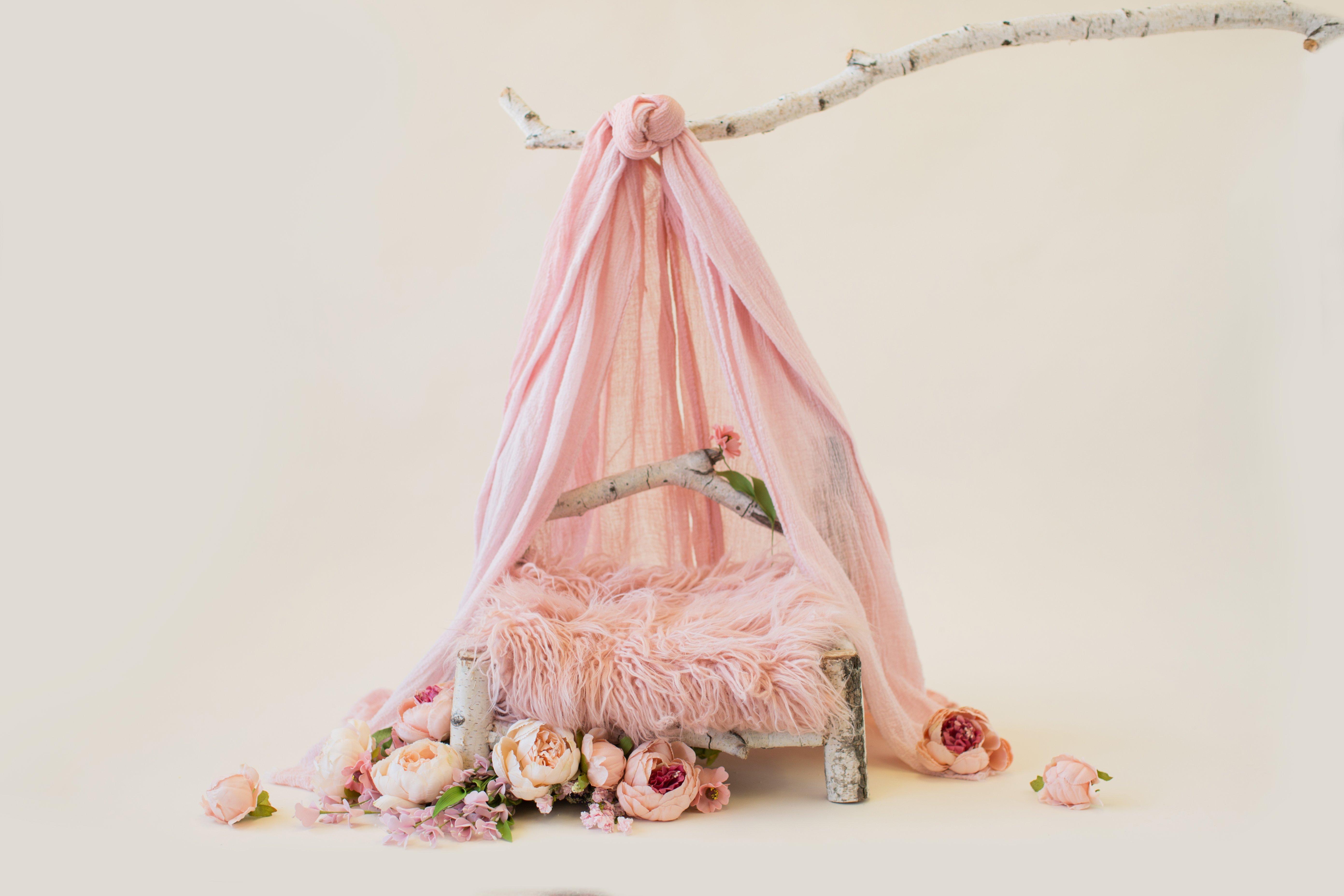 PINK FLOWER BED - DIGITAL BACKDROP