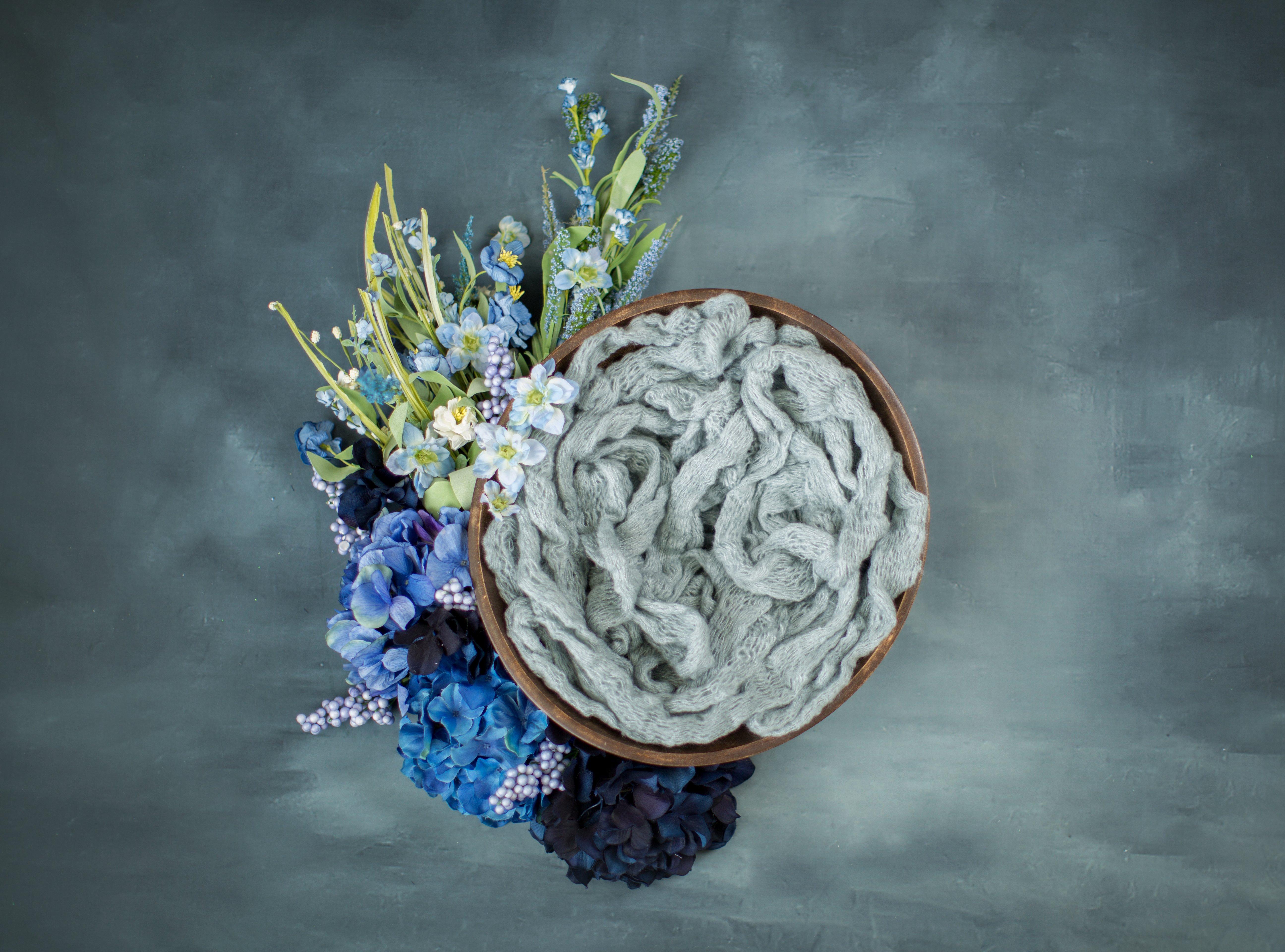 BLUE FLOWERS SNUG POD ( DIGITAL)
